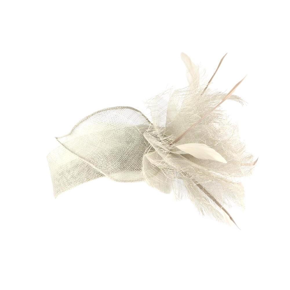 serre tete mariage gris melly bandeau c r monie vaporeux livr 48h. Black Bedroom Furniture Sets. Home Design Ideas
