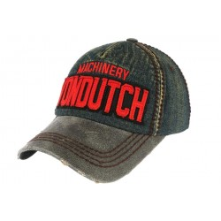 Casquette Von Dutch Grise Denim Donald