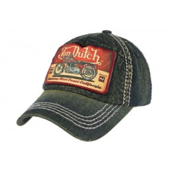 Casquette Von Dutch Bleu Denim Terry