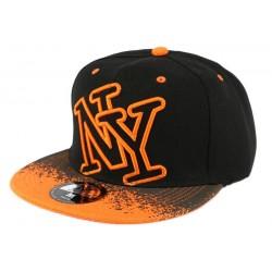 Casquette NY Orange et Noir Tag
