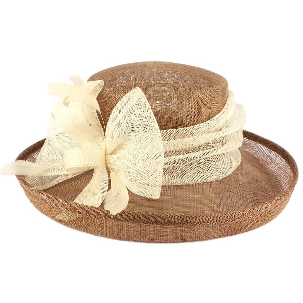 Achat chapeau mariage beige chapellerie hatshowroom for Taille d un albizia
