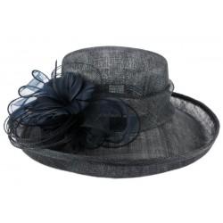 Chapeau mariage bleu marine Bora