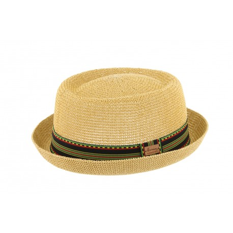 Petit Chapeau de paille Beige et Rouge Gringo