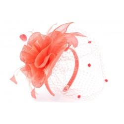 Coiffe mariage Corail en sisal Vyka