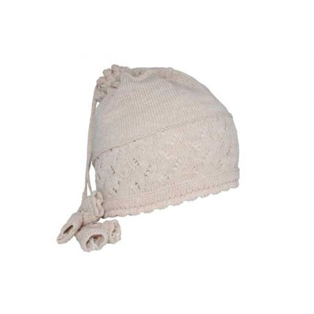 Bonnet Tour de cou Egine beige