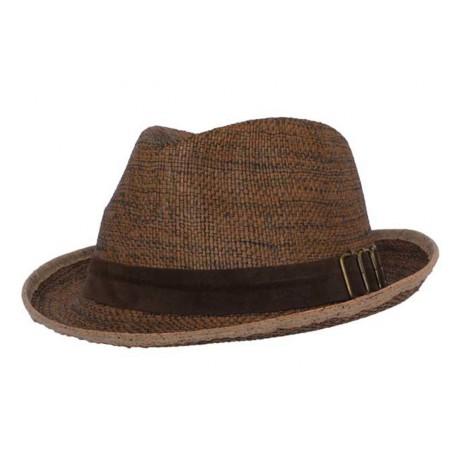 Chapeau de paille Skokie marron