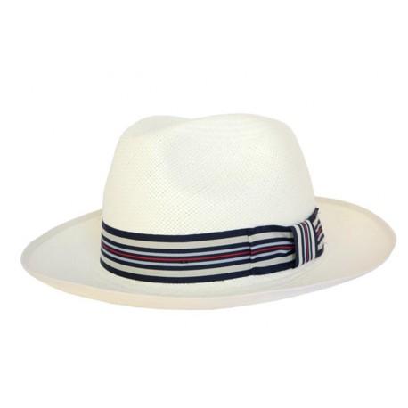 Chapeau Panama Cristys' Regimental N°1Ivoire