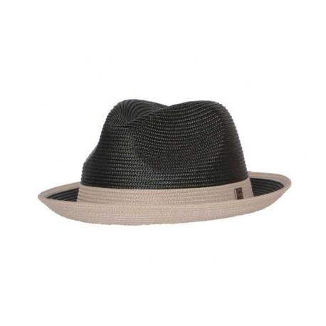 Chapeau de paille Florence Marron et blanc