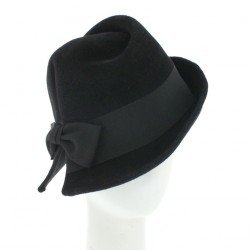 Chapeau Feutre Femme Cherly Noir par Céline Robert