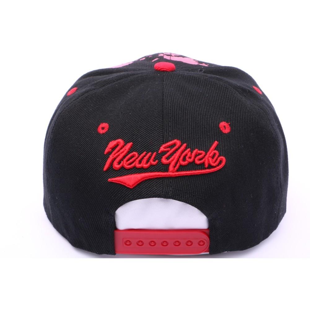 Casquette New York Noir Et Rouge