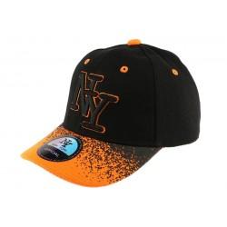 Casquette baseball Enfant Orange et noire Tag 7 à 12 ans