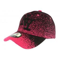 Casquette baseball rose et noire Wave