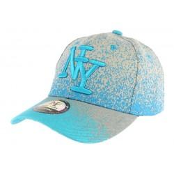 Casquette baseball bleu et grise Wave