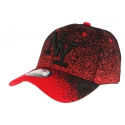 Casquette baseball enfant rouge et noir Wave 7 a 12 ans