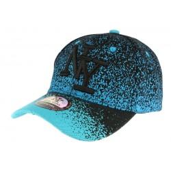 Casquette baseball enfant bleu et noir Wave 7 a 12 ans