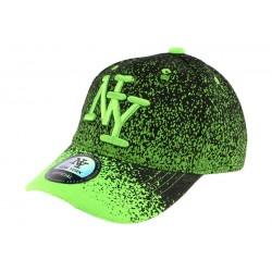 Casquette baseball enfant verte et noir Wave 7 a 12 ans