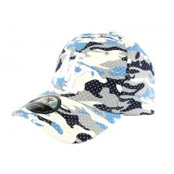 Casquette baseball enfant camouflage bleu Kolt 7 a 12 ans