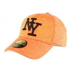 Casquette baseball Orange Façon Sweat Luis