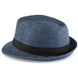 Chapeau Paille Enfant Bleu Mylko 6 a 12 ans