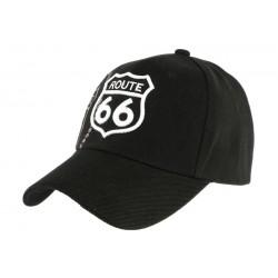Casquette Route 66 Noire et Grise