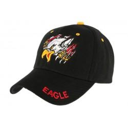 Casquette baseball Noire Aigle