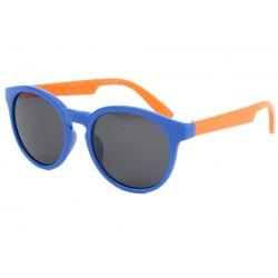 Lunette soleil enfant orange et bleu Syck 6 à 12 ans