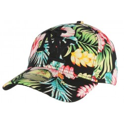 Casquette Baseball Noir NY Floral