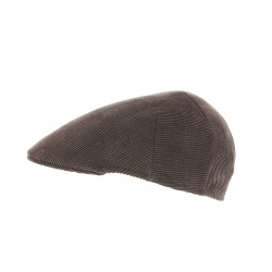 Casquette tweed marron Herman