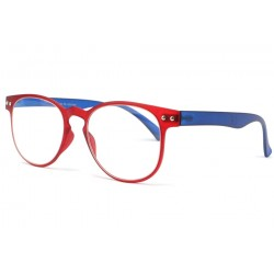 Lunette lecture bleu rouge slim Fit