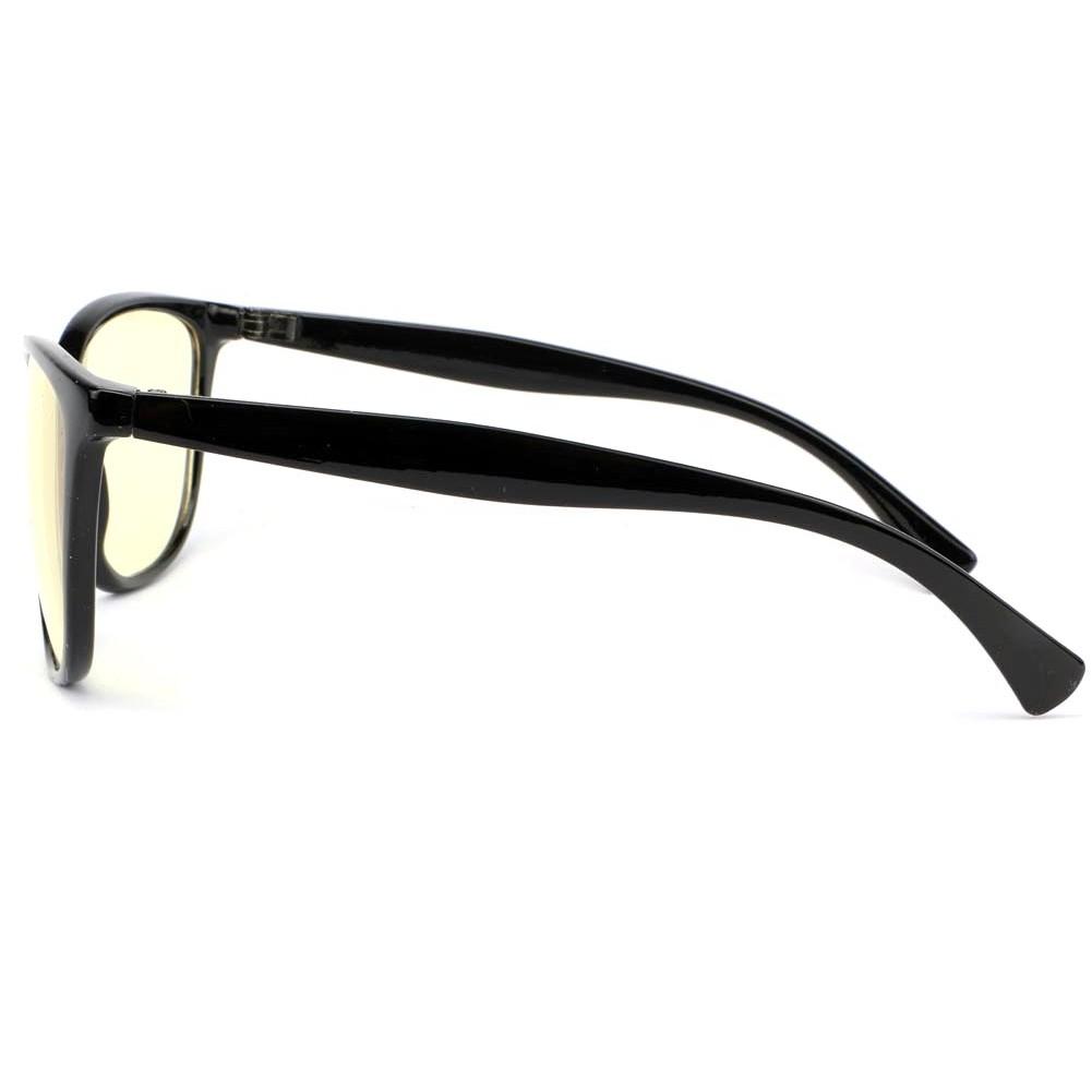 lunette anti lumi re bleu noire isoca pc lunette cran. Black Bedroom Furniture Sets. Home Design Ideas