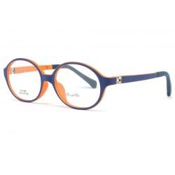 Monture lunette enfant bleu et orange 7 à 12 ans Kick