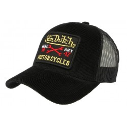 Casquette Von Dutch noir en Velours Mark