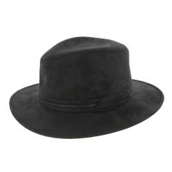 Chapeau Homme Noir simili cuir Herman