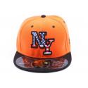 Casquette snapback  NY Orange  visère Noir