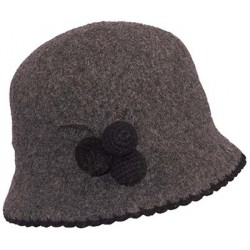 Chapeau Laine Herman Headwear Lady Laly Anthracite
