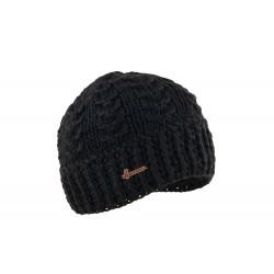 Bonnet court noir en laine Alkin Herman