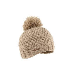 Bonnet pompon marron clair Sylin Herman