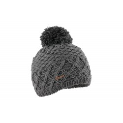 Bonnet pompon Gris double polaire Loisin Herman
