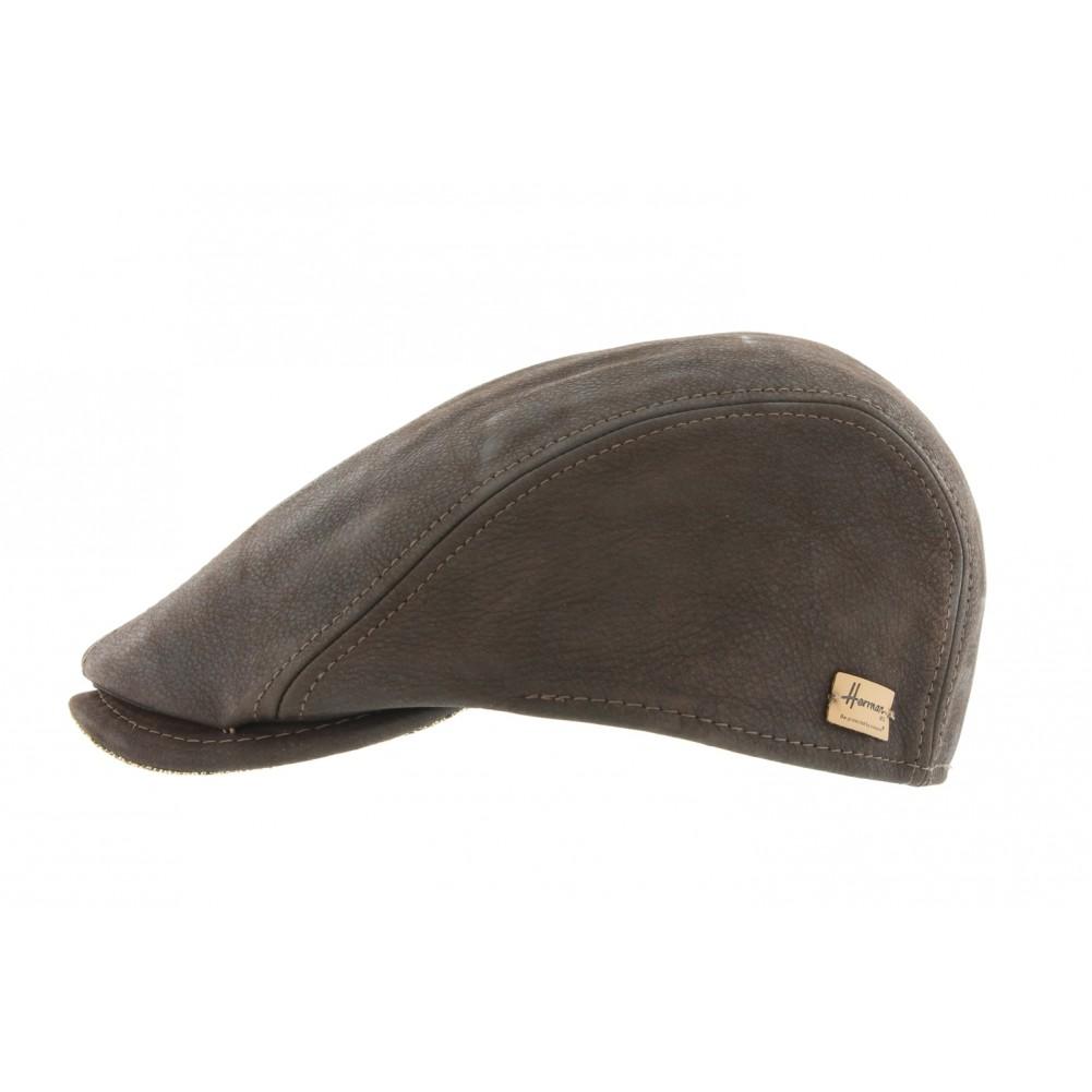 casquette cuir marron wange casquette en cuir homme chic livr en 48h. Black Bedroom Furniture Sets. Home Design Ideas