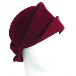 Chapeau Cloche Femme Therra Rouge Rubis