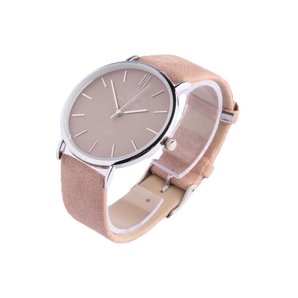 grande montre bracelet femme marron lysa montre tendance livre 48h. Black Bedroom Furniture Sets. Home Design Ideas