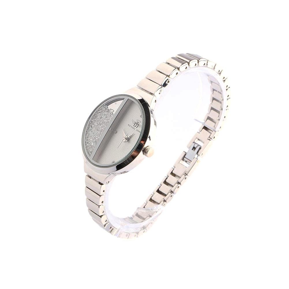 bracelet montre femme argent et strass sola montre l gante livr 48h. Black Bedroom Furniture Sets. Home Design Ideas