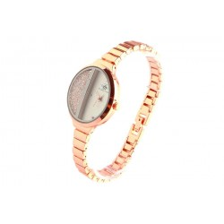 Bracelet montre femme or rose et strass Sola