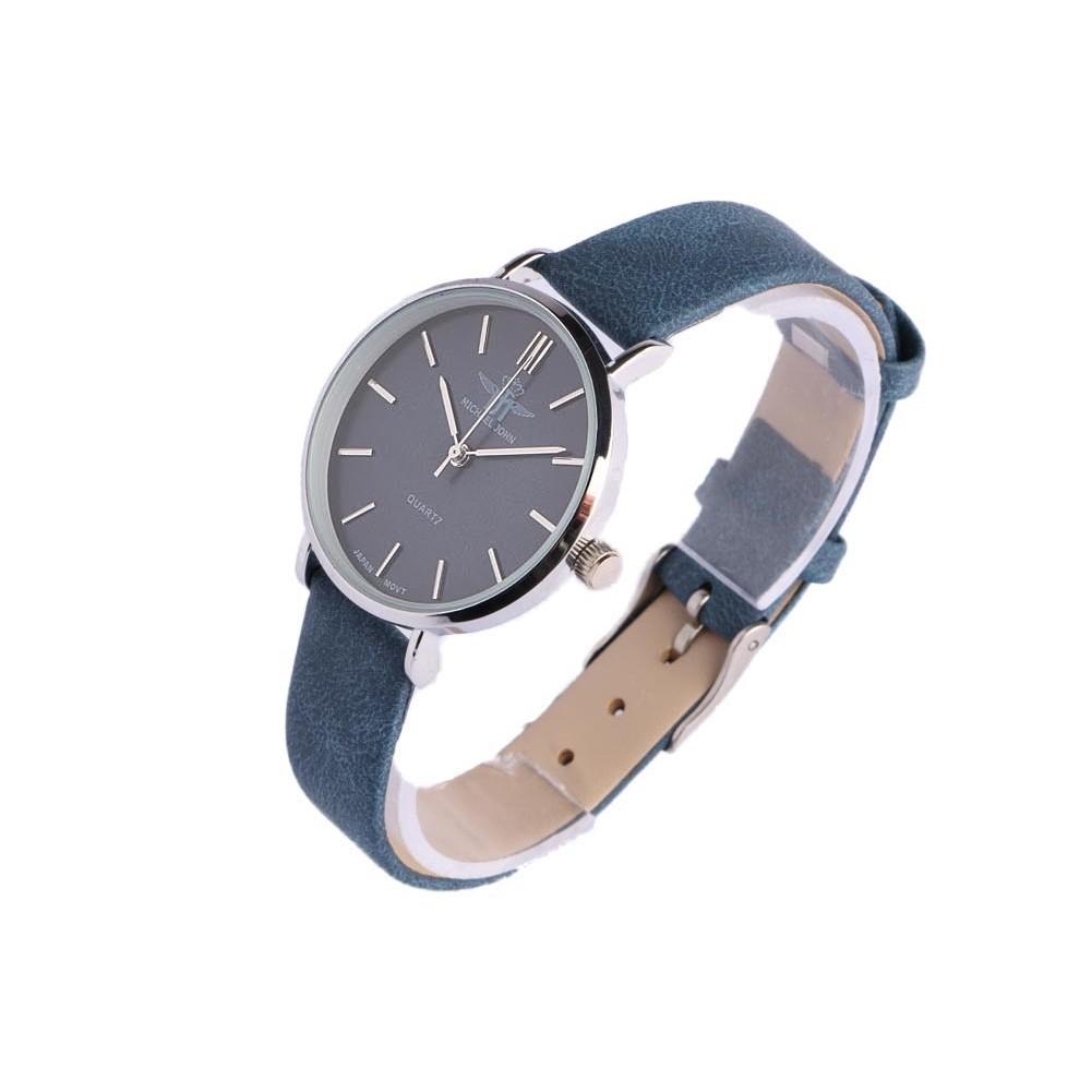 montre femme bracelet bleu ona montre argent tendance. Black Bedroom Furniture Sets. Home Design Ideas
