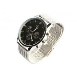 Montre chronographe noire et grise homme Astor