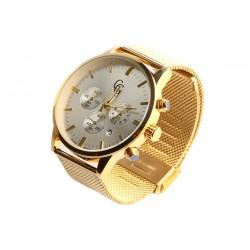 Montre chronographe dore homme maille milanaise Astor