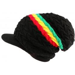 Bonnet casquette noir rasta Wesh Nyls Creation