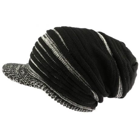 Bonnet casquette gris et noir rasta Tuff Nyls Creation