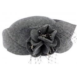 Chapeau bibi gris femme en feutre Kate Léon Montane