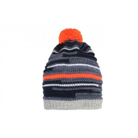 Leonmontane Bonnet Dia Gris, marine et orange